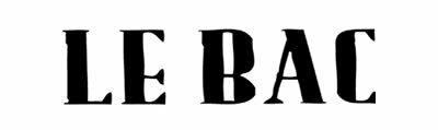 LE BAC / LE BAC / ルバック / るばっく