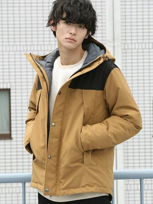 ベージュ 中綿ジャケットのコーディネート画像