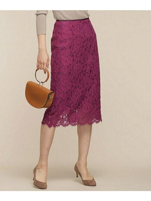 ピンク レースタイトスカートのコーディネート画像
