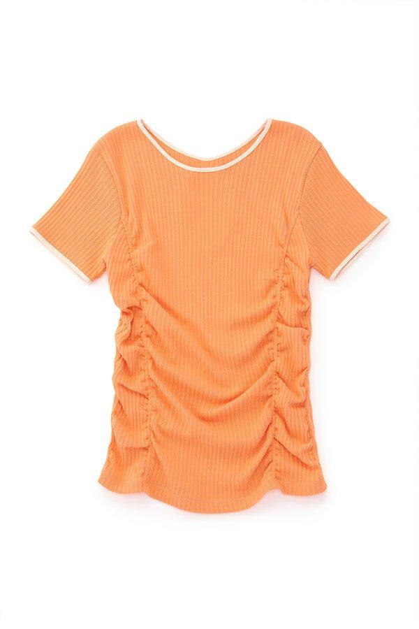 Ray BEAMS / バックホール ギャザー Tシャツ