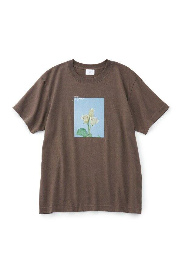 【VTA for MADEMOISELLE】フラワーフォトショートスリーブ Tシャツ
